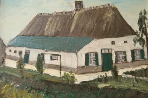 Schilderij Boerderij v.d. Burght nu Fam. Boschman